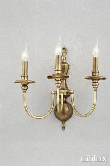 Arcadia Classic European Style Brass Wall Light Elegant Range Citilux