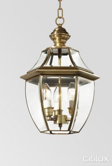 Auburn Traditional Outdoor Brass Pendant Light Elegant Range Citilux
