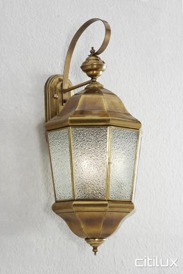 Austinmer Traditional Outdoor Brass Wall Light Elegant Range Citilux