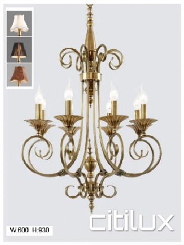 Badgerys Creek Classic European Style Brass Pendant Light Elegant Range Citilux