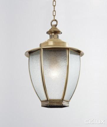 Balmain East Classic Outdoor Brass Pendant Light Elegant Range Citilux