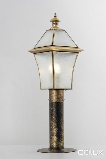 Banksmeadow Classic Outdoor Brass Made Post Light Elegant Range Citilux