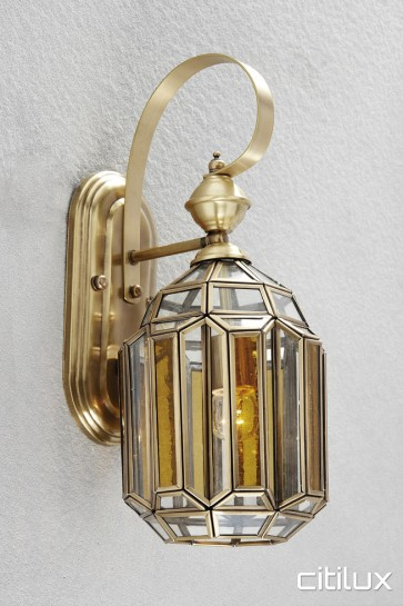 Barden Ridge Classic Outdoor Brass Wall Light Elegant Range Citilux