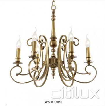 Bardia Classic European Style Brass Pendant Light Elegant Range Citilux