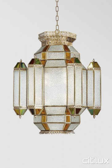 Bayview Traditional Brass Pendant Elegant Range Citilux