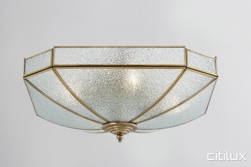 Burwood Classic Brass Made Flush Mount Ceiling Light Elegant Range Citilux
