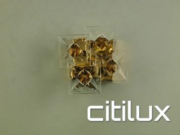 Cyma 2 Light Wall Light Gold Citilux