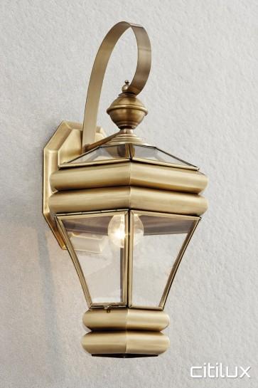 Davidson Traditional Outdoor Brass Wall Light Elegant Range Citilux