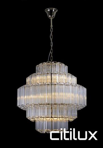 Deauville 9 Lights Chandelier Gold Citilux