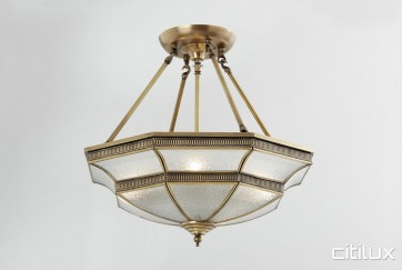 Elizabeth Hills Classic Brass Made Semi Flush Mount Ceiling Light Elegant Range Citilux