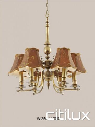 Elvina Bay Classic European Style Brass Pendant Light Elegant Range Citilux