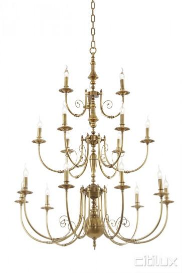 Engadine Classic European Style Brass Pendant Light Elegant Range Citilux