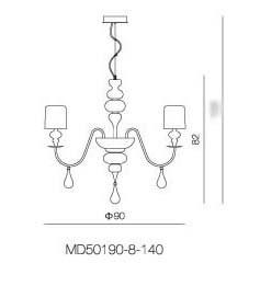 Eva 8 light Chandelier - Pendant Light - Citilux