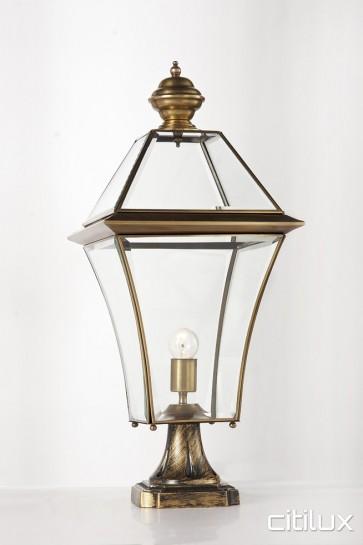 Fairfield East Classic Outdoor Brass Made Pillar Mount Light Elegant Range Citilux
