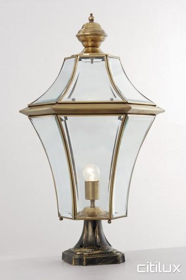 Fairfield Traditional Outdoor Brass Made Pillar Mount Light Elegant Range Citilux