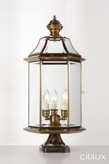 Fairlight Traditional Outdoor Brass Made Pillar Mount Light Elegant Range Citilux