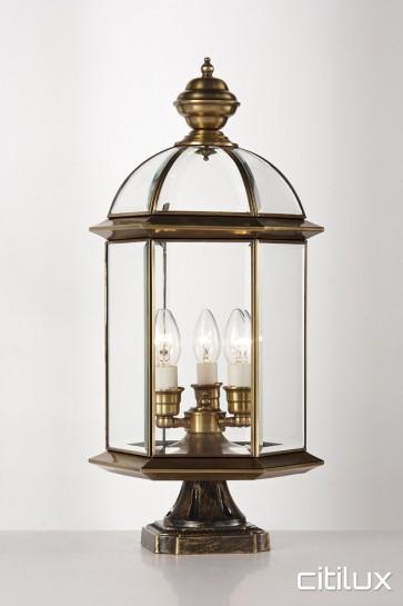 Fiddletown Classic Outdoor Brass Made Pillar Mount Light Elegant Range Citilux