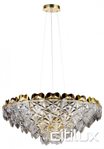 Georgina 9 Lights Pendant Gold Citilux