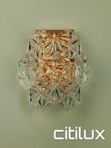 Ginny 2 Lights Wall Light Rose Gold Citilux