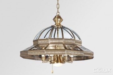 Glebe Classic Brass Made Dining Room Pendant Light Elegant Range Citilux
