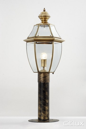 Greenfield Park Traditional Outdoor Brass Made Post Light Elegant Range Citilux