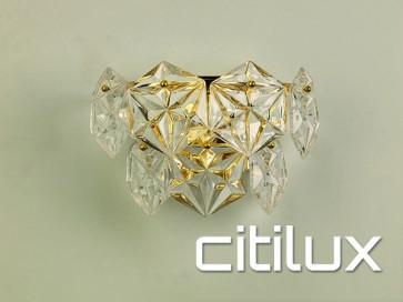 Guru 1 Light Wall Light Gold Citilux
