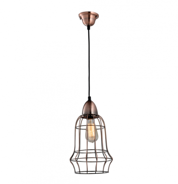 Industrial Copper Wire Cage Pendant Lamp - A - Pendant Light - Citilux