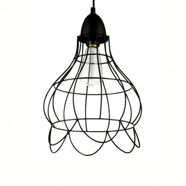 Industrial Copper Wire Cage Pendant Lamp - B - Pendant Light - Citilux