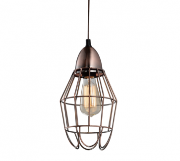 Industrial Copper Wire Cage Pendant Lamp - C - Pendant Light - Citilux