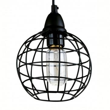 Industrial Copper Wire Cage Pendant Lamp - D - Pendant Light - Citilux