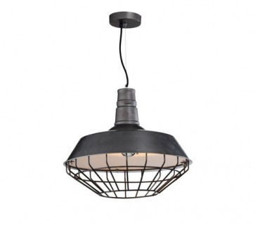 Industrial Funnel Pendant Lamp with Cage - Iron - Pendant Light - Citilux
