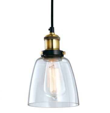 Industrial Vintage Glass Pendant Lamp - 14cm - Pendant Light - Citilux