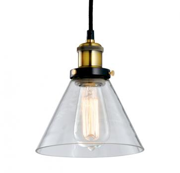 Industrial Vintage Glass Pendant Lamp - 19cm - Pendant Light - Citilux