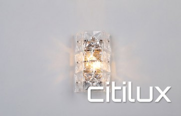 Lydia 2 Light Wall Light Chrome Citilux