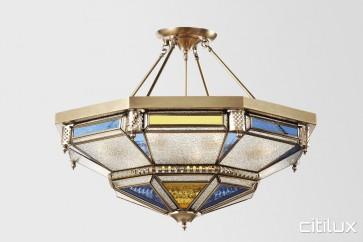 Maddens Plains Classic Brass Made Semi Flush Mount Ceiling Light Elegant Range Citilux