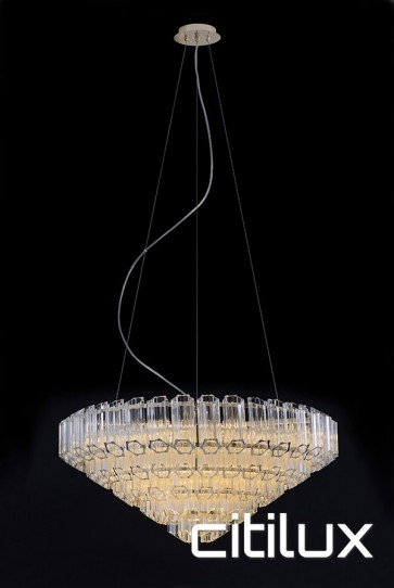 Mondrian 13 Lights Chandelier Gold Citilux