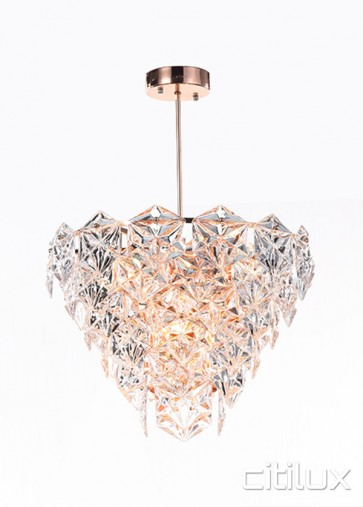Peria 6 Lights Pendant Rose Gold Citilux