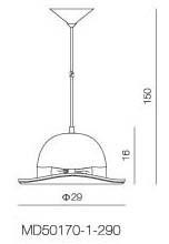 Replica Hat Pendant Light Jeeves Bowler - Pendant Light - Citilux