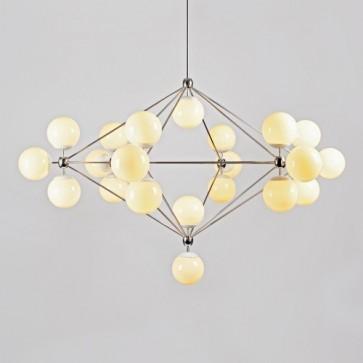 Replica Jason Miller Modo Diamond Chandelier - 21 Bulb Gold - Pendant Light - Citilux