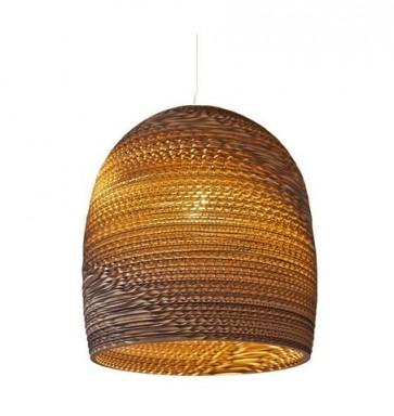 Replica Recycled Cardboard Pendant lights -Bell - Pendant Light - Citilux