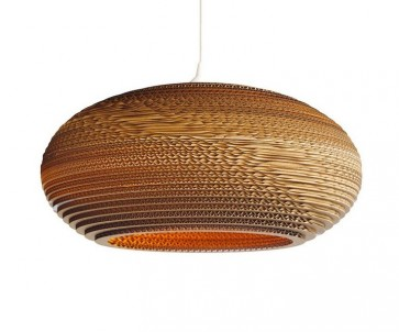 Replica Recycled Cardboard Pendant lights -Disc - Pendant Light - Citilux