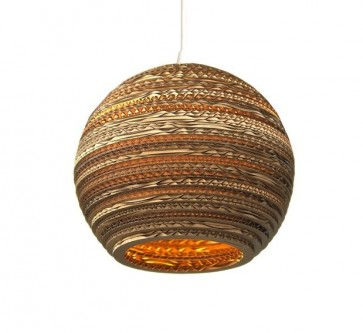 Replica Recycled Cardboard Pendant lights -Moon - Pendant Light - Citilux