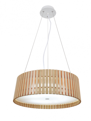 Replica Wood Round Pendant Lamp -50cm - Pendant Light - Citilux