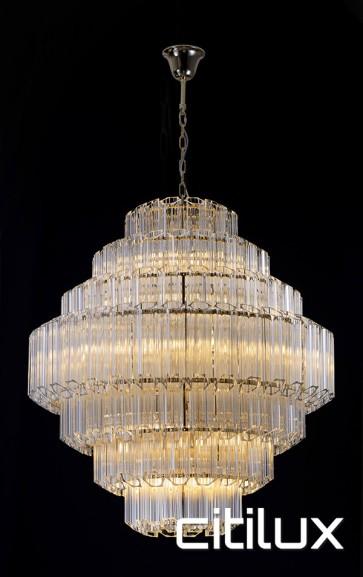 Takela 18 Lights Chandelier Gold Citilux