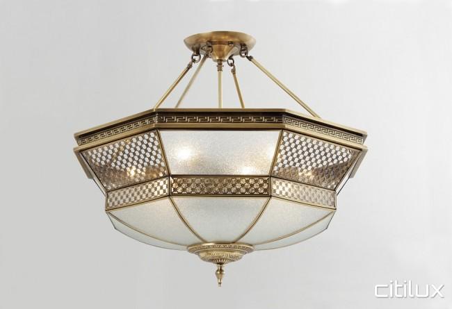 Elderslie classic brass made semi flush mount ceiling light elegant elderslie classic brass made semi flush mount ceiling light elegant range citilux aloadofball Image collections