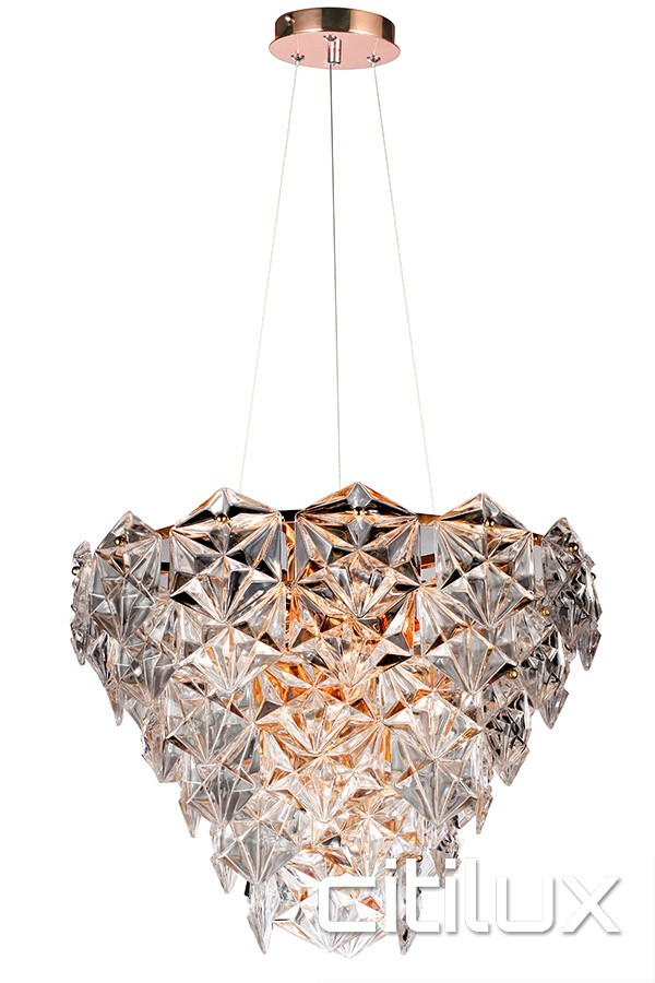 fairy 6 lights pendant rose gold citilux. Black Bedroom Furniture Sets. Home Design Ideas