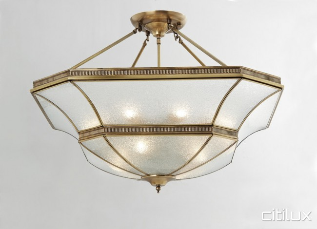 Macquarie links classic brass made semi flush mount ceiling light macquarie links classic brass made semi flush mount ceiling light elegant range citilux aloadofball Image collections