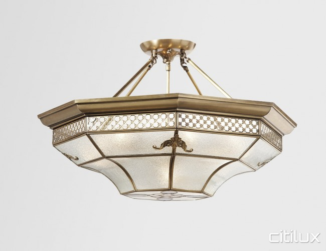 Marayong classic brass made semi flush mount ceiling light elegant marayong classic brass made semi flush mount ceiling light elegant range citilux aloadofball Image collections