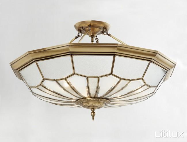 Menangle park classic brass made semi flush mount ceiling light menangle park classic brass made semi flush mount ceiling light elegant range citilux aloadofball Image collections