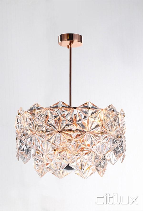 Mirka 6 Lights Pendant Rose Gold Citilux